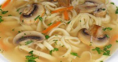 Суп-лапша с шампиньонами